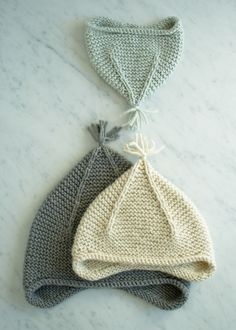 Laura's Loop: Garter Ear Flap Hat - free pattern at The Purl Bee
