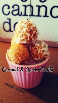 Coconut and apricot balls