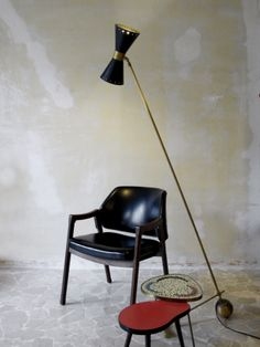 Italian floor lamp - Ico Parisi armchairs for Cassina 1961 - www.capperidicasa.com