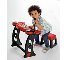 Buy Chad Valley Sing Along Keyboard, Stand and Stool - Red at Argos.co.uk, visit Argos.co.uk to shop online for Musical toys, Creative and science toys, Toys Baby Musical Toys, My Moon And Stars, Science Toys, Argos, Little Boys, Keyboard, Playroom, Musicals, Singing