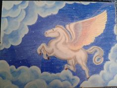 Pegasus, by Elise. Allereerste werk met pastelkrijt in 1998