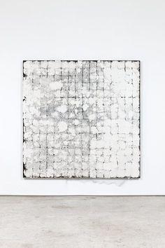 """Oscar Tuazon A Complete Sentence 2014 Plaster, steel, wire mesh 166 x 166 x 6 cm / 65 x 65 x 2"""" Unique / SOOT/P 2014-002"""