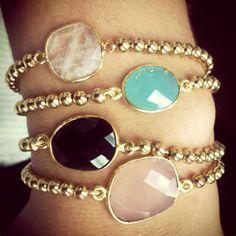 gemstone bracelet set by loveleekz
