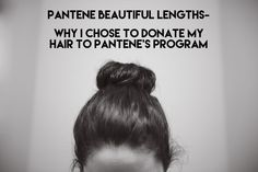 I just got done donating 8 inches to Pantene's Beautiful Lengths program. It feels so good to cut off all that hair for a good cause. Check out the details on the blog!
