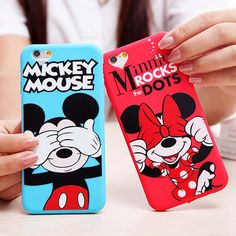 아이폰 6 케이스 귀여운 만화 미니 마우스 부드러운 실리콘 전화 케이스 애플 아이폰 6 6 초 6/6 초 플러스 5 5 초 SE 다시 커버 Fundas