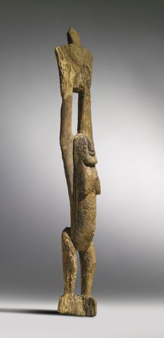 TELLEM FIGURE, MALI PROPERTY FROM THE ESTATE OF JAN KRUGIER H. 50 cm AFRICAN, OCEANIC AND PRE-COLUMBIAN ART INCLUDING PROPERTY FROM THE KRUGIER AND LASANSKY COLLECTIONS Sotheby's, New York, 16 May 2014 Sold 16,250 USD