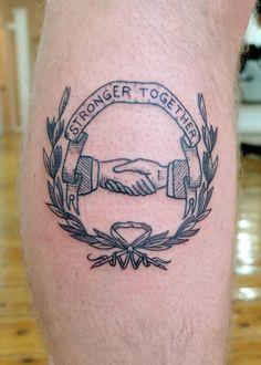 handshake - Andrew Hulbert tattoo