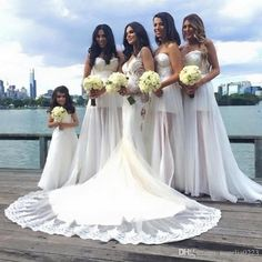 White Beach Bridesmaid Dresses 2016 New Sexy Strapless See Through Lace Maid Of Honor Wedding Party Dresses Long Chiffon Bridesmaid Dresses Long Lace Bridesmaid Dresses From Angelia0223, $133.45| Dhgate.Com