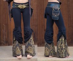 Peekaboo Tie Up Flare Pants - with Beautiful Upholstery Flare