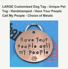 Cute dog tag from Etsy!! Only $14!