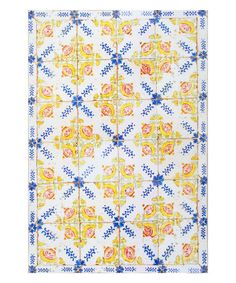 Another great find on #zulily! Yellow Tile Wagoner Rug #zulilyfinds
