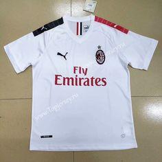 58a287905 2019-2020 AC Milan Away White Thailand Soccer Jersey AAA-809