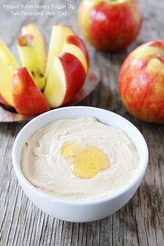 Peanut Butter Honey Yogurt Dip Recipe on twopeasandtheirpod.com We love this easy and healthy dip!