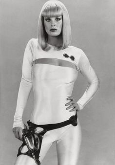 Dorothy Stratten as Galaxina, 1980. She was murdered by her jealous ex-husband. He had been the one that had sent a photo of her, to Playboy magazine.