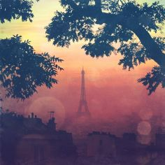 Paris by Sunset  4x4 fine art photo print by elgarboart on Etsy, $6.00