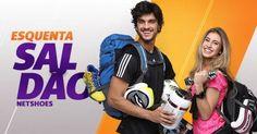 Gente, tênis, jaquetas e moletons com desconto de até 60% na Netshoes! Tem de tudo lá, vale a pena conferir :) #ad