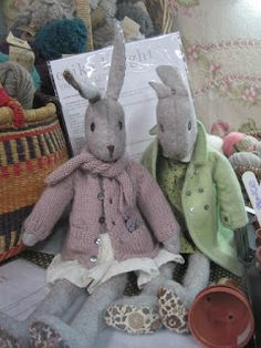 Tilly's Vintage Workshop blog Create And Craft Tv, Doll Patterns Free, Fabric Toys, Bunny Toys, Christmas Sewing, Bear Doll, Sewing Dolls, Knitted Dolls, Easy Sewing Projects