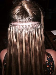 micro-bead hair extension rows