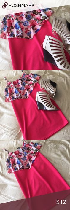 BNWT Pink Floral Body Con Dress Pink and Floral Form Fitting Mini Dress. Size M. From Rue 21. BNWT.   👠Unless otherwise stated NWT, all items are from my PERSONAL closet and GENTLY used. Please do not expect UC to look NWT. 👠  ❤️Shoes are also for sale on a SEPARATE LISTING. Bundle together for the cutest outfit, and best deal!! ❤️  🎀And always HAPPY POSHING. 🎀  ❗️ALWAYS OPEN TO OFFERS. PLEASE USE THE OFFER BUTTON TO SUBMIT OFFERS. ❗️  ✨ ALSO DONT FORGET TO TAKE ADVANTAGE OF THE AWESOME…