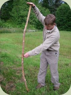 Survival bow making.  My boys might like this- or I can channel my inner Katniss!
