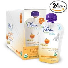 Plum Organics Baby Food, Pumpkin & Banana  Amazingly good, and it isn't full of junk like other brands