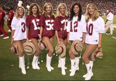 University of Alabama Majorettes scouting team jersey's and Saban hats last season