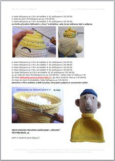 Pat a Mat | Návody na háčkované hračky Crochet Doll Pattern, Crochet Baby, Diy And Crafts, Dolls, Sewing, Czech Republic, Couture, Puppet, Sew