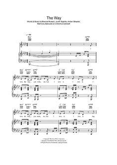 The Way Sheet Music: www.onlinesheetmusic.com