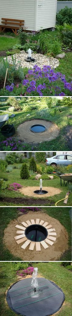 DIY Buried Bubbler Dry Fountain.
