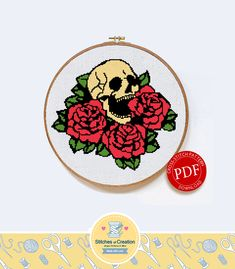 Thrilling Designing Your Own Cross Stitch Embroidery Patterns Ideas. Exhilarating Designing Your Own Cross Stitch Embroidery Patterns Ideas. Cross Stitch Skull, Cross Stitch Fabric, Cross Stitch Rose, Cross Stitching, Cross Stitch Embroidery, Cross Stich Patterns Free, Cross Stitch Designs, Needlepoint Patterns, Embroidery Patterns