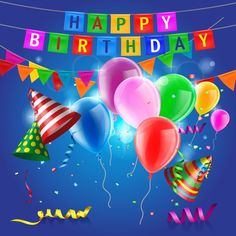 Confetti with colored balloons birthday background 02 confetti birthday balloons background Birthday Greetings Images, Happy Birthday Wishes Cards, Birthday Blessings, Happy Birthday Pictures, Happy Birthday Quotes, Birthday Greeting Cards, Happy Birthday Ballons, Happy Birthday Minions, 23rd Birthday