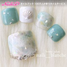 Japanese Nail Design, Japanese Nails, Cute Toe Nails, Toe Nail Art, Nails To Go, Hair And Nails, Pretty Nail Art, Pretty Toes, Blue Nails