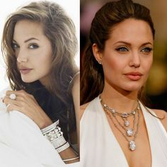 Awe! Necklace and bracelet layering inspiration for us all.  #icecarats #jewelry #fashion #accessories #jewelryjunkie #gold #celebrity #hollywood #inspiration #fashionista #gifts #holidays #christmas #holidayshopping #shop #deals #anjelinajolie #holidayshopping #shop #deals