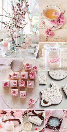 New Spring Bridal Shower Favors Cherry Blossoms Ideas Tea Party Bridal Shower, Bridal Shower Favors, Bridal Shower Decorations, Wedding Favors, Party Favors, Wedding Decorations, Wedding Shoes, Wedding Venues, Wedding Dresses