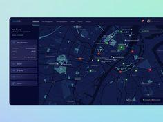 Smart City designed by Sneha Srivastava. Map Layout, Page Layout Design, Blog Layout, Dashboard Interface, Dashboard Design, User Interface Design, Ui Ux, Information Visualization, Data Visualization