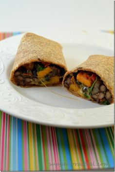 Sweet Potato and Black Bean Burrito - Could use a little more spice, but pretty easy and yummy.