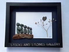 Father's Day Gift Pebble Art Unique Family Gift by SticksnStone