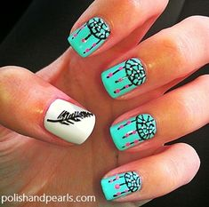 Dream-catcher Nail Art - Click image to find more Hair & Beauty Pinterest pins