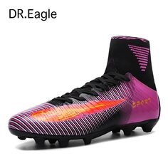 cf6c5ced172c Men top soccer shoes de soccer Spike with high ankle kids football boots  cleats sock boots