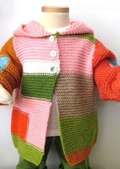 'Pablo' Hooded Cardigan multi-pink