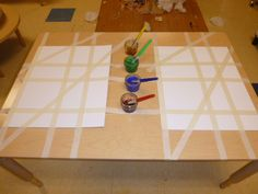 piet Mondrian inspired watercolor exploration.