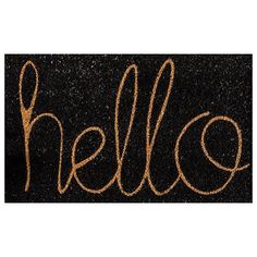 HELLO Door Mat (540 RUB) ❤ liked on Polyvore featuring home, outdoors and outdoor decor