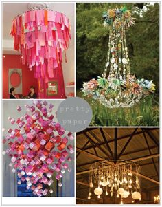 incredible ideas for paper chandeliers