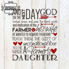 Digital File - Farmer's Daughter with SVG, DXF, PNG Commercial & Personal Use