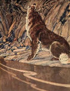 Illustration of Buck howling by the river Saturday Evening Post, Call Of The Wild, It Cast, River, Cats, Illustration, Aquamarine Jewelry, Animals, Image