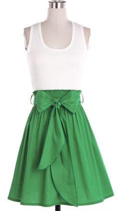 Kelly Green Bow Dress
