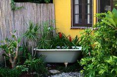vintage bathtub pond garden