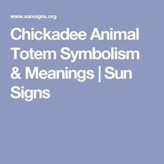 Chickadee Animal Totem Symbolism & Meanings   Sun Signs