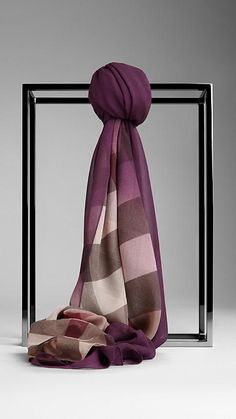 Burberry Check Ombre Silk Scarf