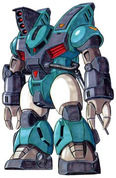 The MS-13 Gasshia is a mobile suit that first appeared in original design series MS-X. The unit is piloted by Daru.